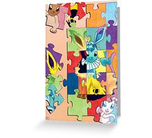 Eeveelution Puzzle Greeting Card