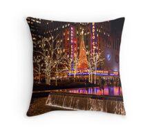Radio City Fountain Lights Throw Pillow