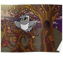Autumn Owl Poster