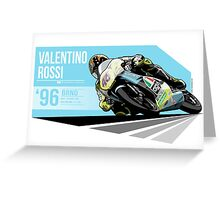 Valentino Rossi - 1996 Brno Greeting Card