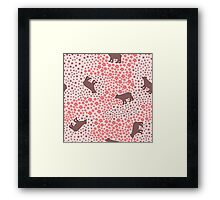 Big funny bear in the meadow  Framed Print