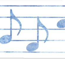 BASS Words in Music - Blue - a V-Note Creation Sticker