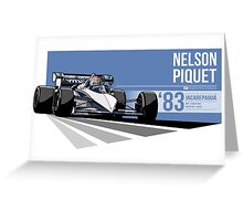 Nelson Piquet - 1983 Jacarepagua Greeting Card
