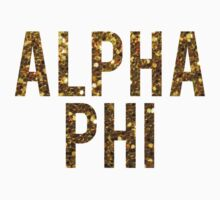 Alpha Phi Gold Glitter by rosiestelling
