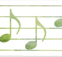 BASS Words in Music - Green - a V-Note Creation Sticker
