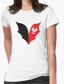 HTTYD Toothless Tail Heart Womens Fitted T-Shirt