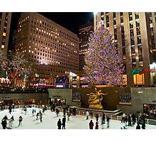 Christmas Tree Rockefeller Center Photographic Print
