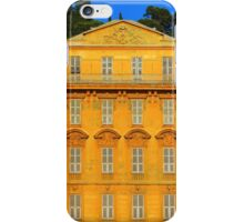 Beautiful ornate yellow building facade in Nice, Cote d'Azur, France iPhone Case/Skin