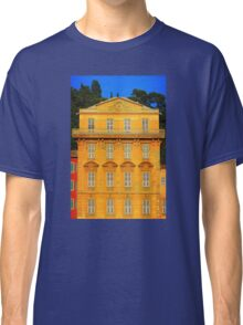 Beautiful ornate yellow building facade in Nice, Cote d'Azur, France Classic T-Shirt