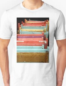 Colorful Folding Pastel Chairs T-Shirt
