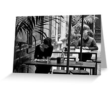 Separate Tables Greeting Card