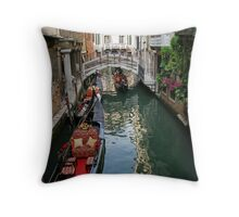 Lazy afternoon-Gondola on canal, Venice, Italy Throw Pillow