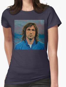 Andrea Pirlo painting Womens Fitted T-Shirt