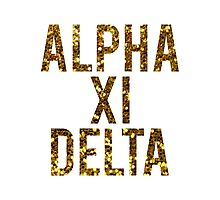 AXiD Gold Glitter Photographic Print