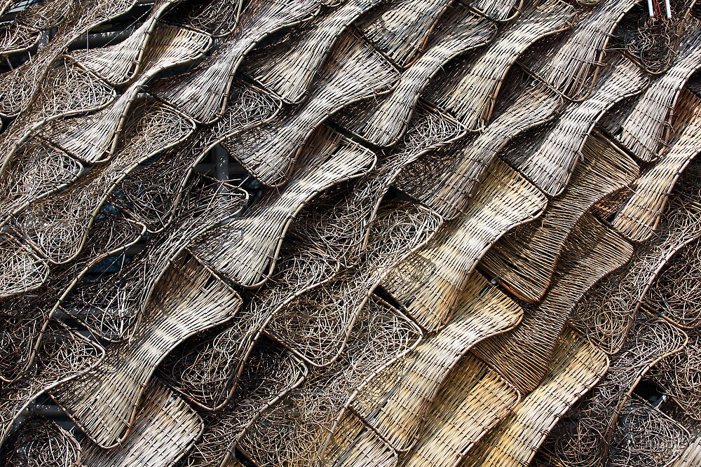Wicker Tapestry-Roof of Spanish Pavillion, Shanghai by mypic