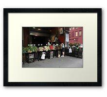 New York City Market Framed Print