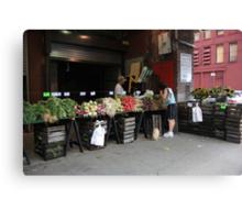 New York City Market Canvas Print