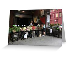 New York City Market Greeting Card