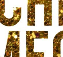 Chi O Gold Glitter Sticker