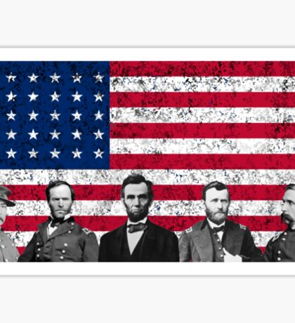 Union Heroes and The American Flag Sticker