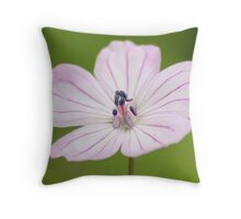 Flora Macro Throw Pillow