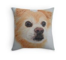 The plumber's dog. Throw Pillow
