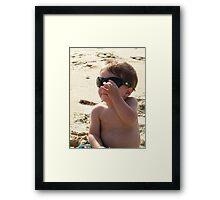 summertime... top gun shades Framed Print