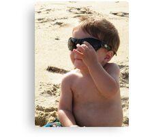 summertime... top gun shades Canvas Print