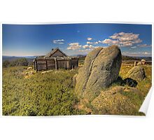 Snowy Mountain High - Craigs Hut, Mount Sterling - The HDR Experience Poster