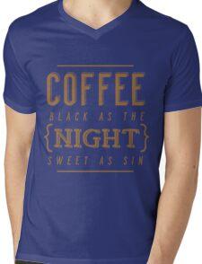 Coffee Black as the Night Mens V-Neck T-Shirt