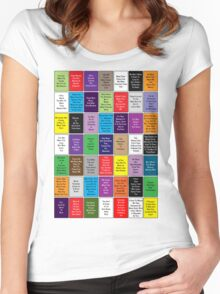 Fall Out Boy Lyric Montage Women's Fitted Scoop T-Shirt