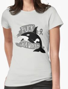 Fuck Sea World Womens Fitted T-Shirt
