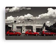 Three Red Cars Canvas Print