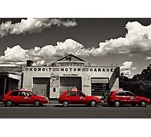 Three Red Cars Photographic Print