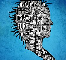 Typography Marla Singer by Adam Grey