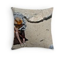 Beach Reader Throw Pillow