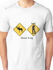 Moose Crossing Unisex T-Shirt