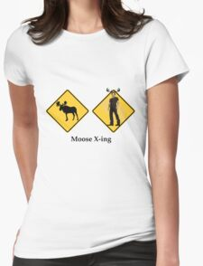Moose Crossing Womens Fitted T-Shirt