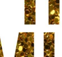 Phi Mu Gold Glitter Sticker