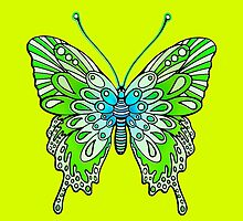 Original Butterfly Design Green by Sookiesooker
