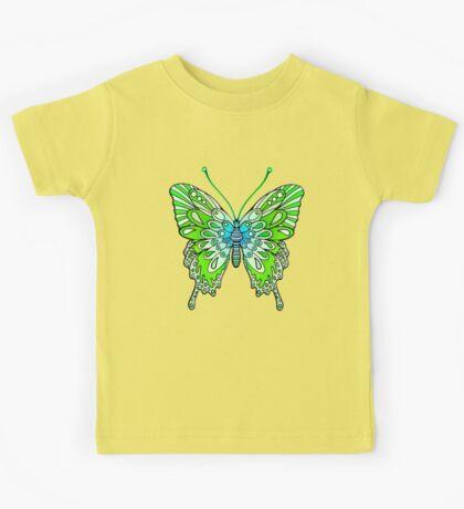 Original Butterfly Design Green Kids Tee