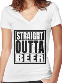 Straight Outta BEER Women's Fitted V-Neck T-Shirt