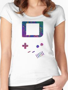 __gameboy psychedelic Women's Fitted Scoop T-Shirt