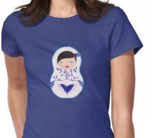 Blue  Babushka Womens Fitted T-Shirt