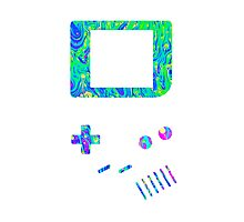 __gameboy psychedelic green Photographic Print