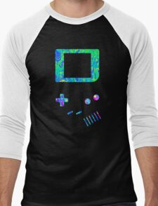 __gameboy psychedelic green Men's Baseball ¾ T-Shirt