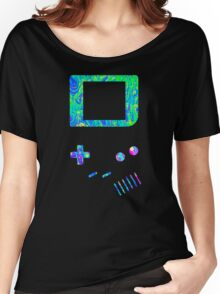__gameboy psychedelic green Women's Relaxed Fit T-Shirt