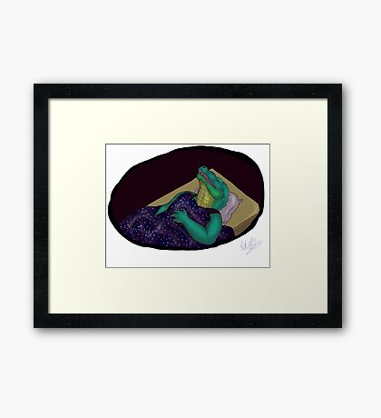 Sleepy Gator Framed Print