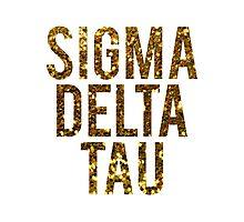 Sigma Delta Tau Gold Glitter Photographic Print