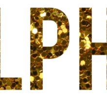 Kappa Alpha Theta Gold Glitter Sticker